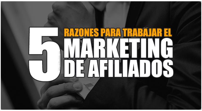 5 Razones Por Las Que Debes De Trabajar El Marketing De Afiliados
